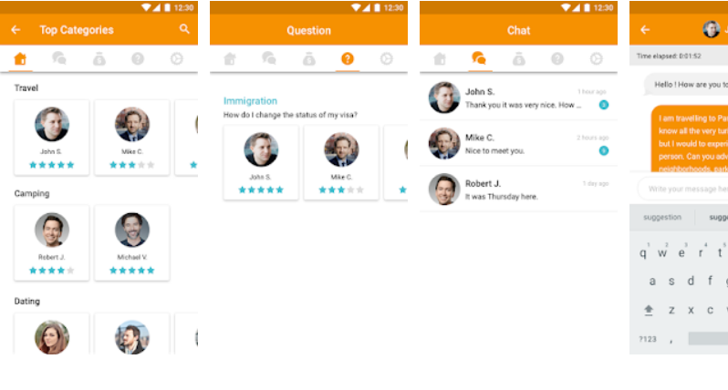 Peerz - Paid per minute chat