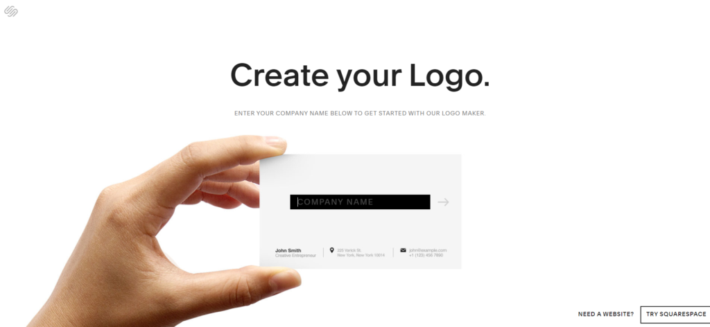 SquareSpace Free Logo Creator